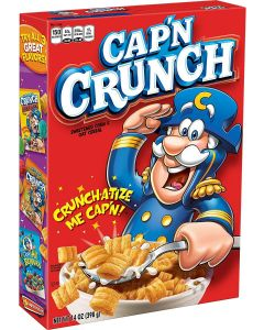 A 398g box of Captain Crunch cereals imported from America