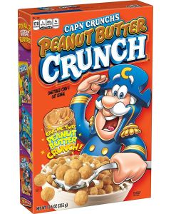 A 355g box of Peanut Butter Cap'n Crunch imported from America