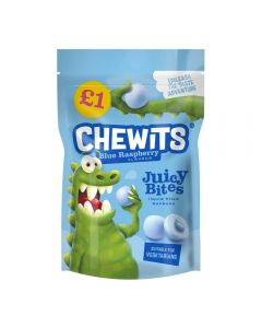 Chewits blue raspberry flavour bon bons with a juicy liquid filled centre