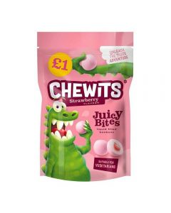 A 145g bag of chewits strawberry bon bon with a juicy liquid centre