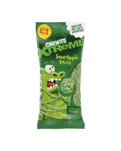 Chewits Xtreme sour apple flavour laces