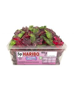 A bulk tub of Haribo Fairyland jelly sweets