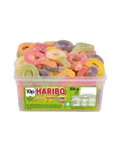 A full tub of Haribo giant fizzy dummies