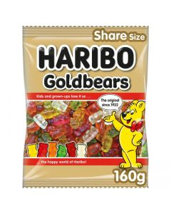 Haribo gummy bear sweets in a variety of fruit flavours