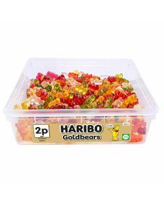 A full tub of Haribo jelly teddy bear sweets
