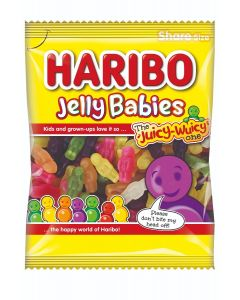 Haribo jelly sweets in the shape of jelly babies and fruit flavour sweets