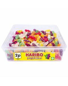 A bulk 1kg tub of haribo jelly babies