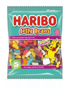 Haribo Jelly beans and retro panned jelly sweets in fun and fruity flavours