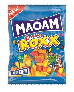 Maoam Crazy Roxx and quirky shaped chewy sweets with assorted fruit flavours