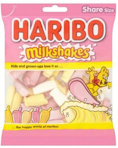 Haribo milk flavour sweets in the shape of bottles