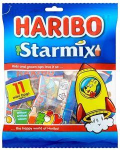 A bumper bag of 11 mini bags of Haribo starmix sweets