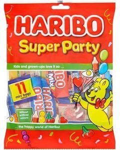 A bumper bag of 11 mini bags of Haribo Sweets