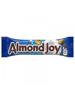 Almond Joy is a Hershey's chocolatebar consisting of wholealmondsand sweetened, shredded coconut covered in milk chocolate