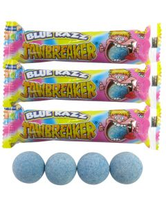 3 Packets of blue raspberry flavour jawbreakers gobstopper sweets