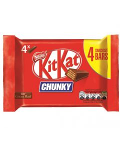 A multipack of 4 Kit Kat Chunky Bars