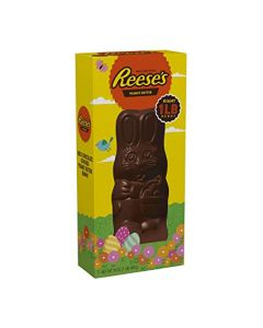 Almost half a kilo of Reese's creamy peanut butter shaped like an Easter bunny covered in creamy milk chocolate
