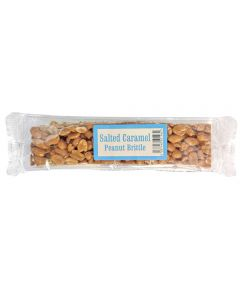 Crunchy Peanuts set in a delicious salted caramel flavour brittle bar