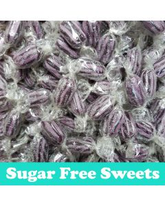 a 100g bag of sugar free blackcurrant and liquorice sweets