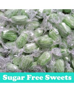A 100g bag of sugar free chocolate lime sweets