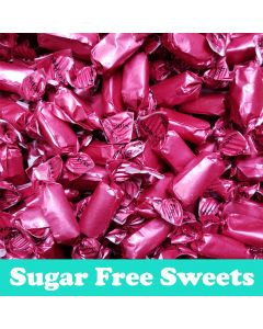 A 2kg bag of sugar free chews with a fruit salad flavour