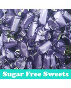A 100g bag of liquorice flavour toffee, sugar free sweets!