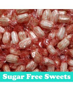 A 2kg bulk bag of sugar free mint and vanilla flavour hard boiled sweets