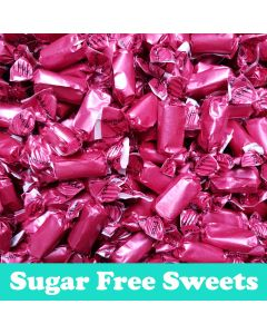 A 100g bag of rum and butter flavour toffee, sugar free sweets!