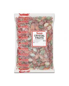 A 3kg bulk bag of fruit flavour boiled sweets, Swizzels crystal fruits are traditional boiled sweets