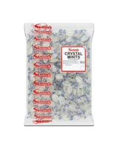 A 3kg bulk bag of Swizzels clear mints, popular traditional sweets