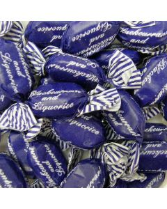 Tilleys blackcurrant and liquorice flavour traditional boiled sweets