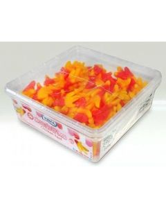 A full tub of jelly sweets shaped like chicken feet!