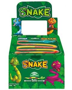 A full box of fruit flavour giant jelly snakes that are over 1m in length!
