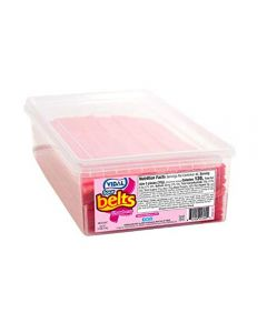 A full tub of 200 sour strawberry belts
