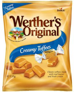 Werthers classic toffee sweets made with real butter and fresh cream