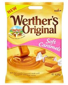 Werthers soft and creamy caramel sweets made with real butter and fresh cream