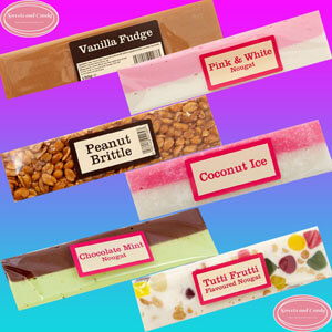 Retro Sweets - Nougat Bars - Fudge Bars - Traditional Sweets